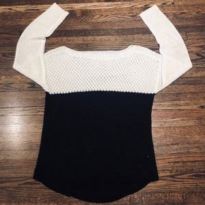 Lumiere |  Color block Knit Sweater